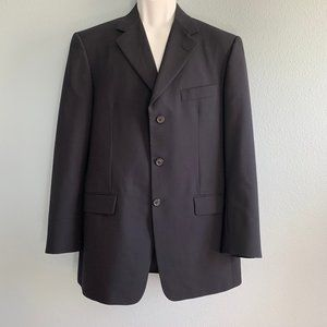 Burberry London Blue Wool 3 Button Blazer 40R